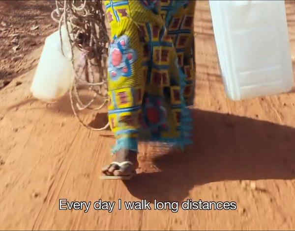 Still from Water for Africa's award-winning Marathon Walker film